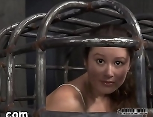 Gagged and tied up sweetheart is whipped ferociously