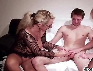German Mom and Aunt Teach Mint Step-Son how To Fuck