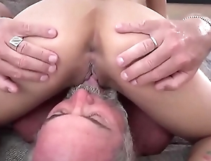 young girls having fun with old dudes