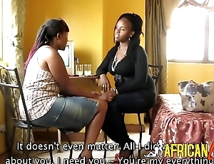 Thick Kenyan lesbians murder pussy with sexual connection toys